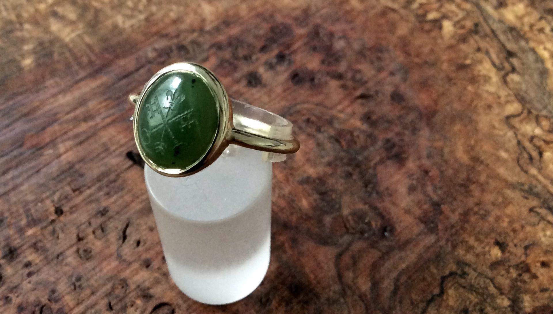 Wappenring Jade